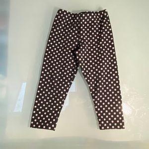 Peekaboo Beans polka dot leggings size 3